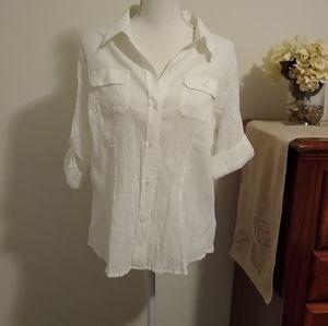 PXL NWT Liz Claiborne white shirt